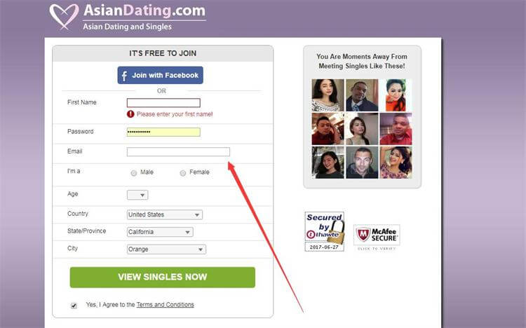 Asiandating.com registration